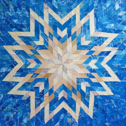 Blueprint Quilt #1